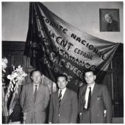 Kongres SAC w 1953 roku. Od lewej: Helmut Rüdiger, Bernando Merino orazFritz Linow